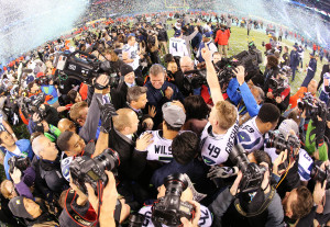 The Seahawks Victory Celebration at Super Bowl XLVIII